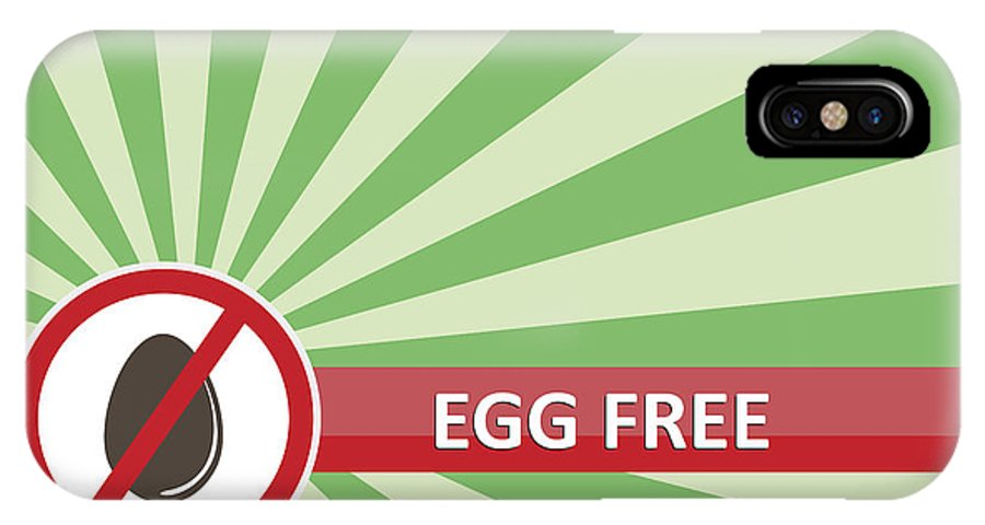 Product IPhone X Case featuring the photograph Egg Free Banner by Tim Hester