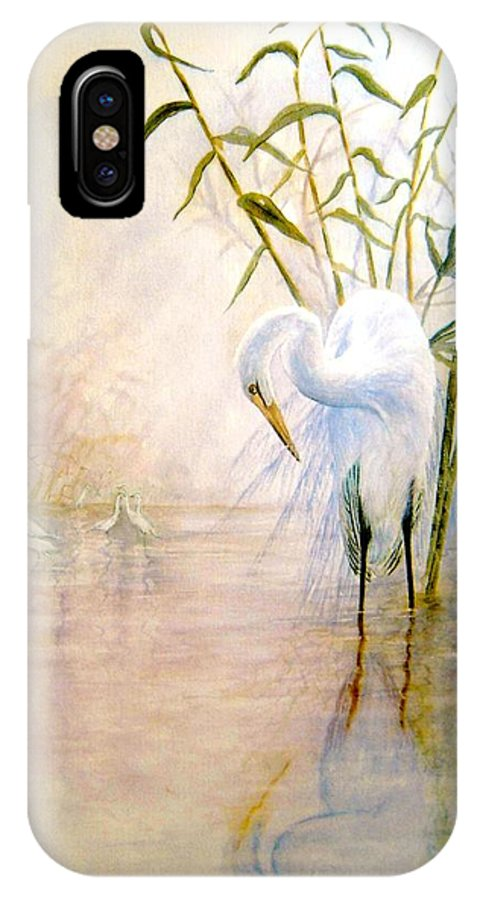 Eret; Bird; Low Country IPhone Case featuring the painting Egret by Ben Kiger