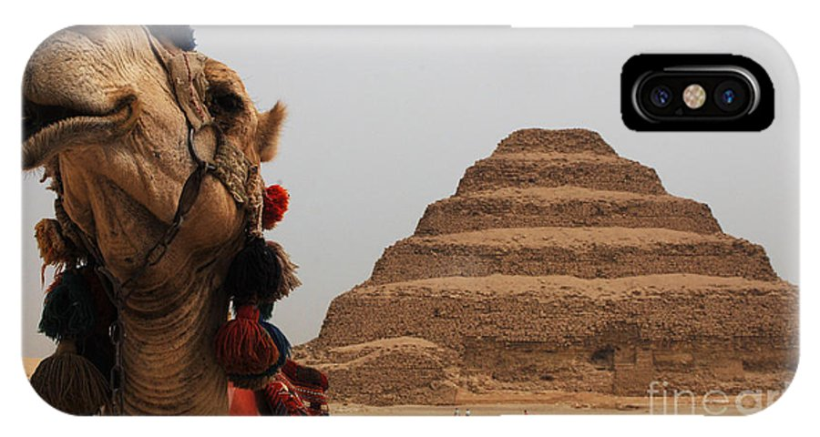 Egypt IPhone X Case featuring the photograph Egypt Step Pyramid Saqqara by Bob Christopher