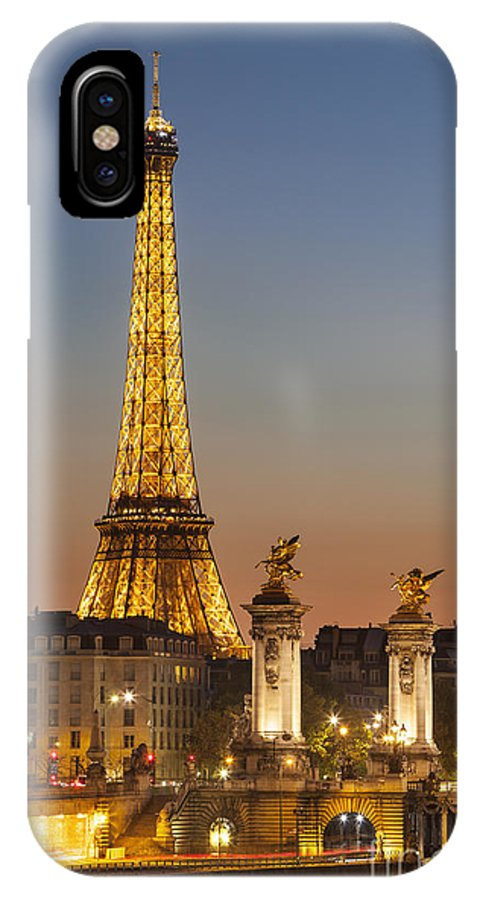 Architectural IPhone X Case featuring the photograph Eiffel At Twilight by Brian Jannsen