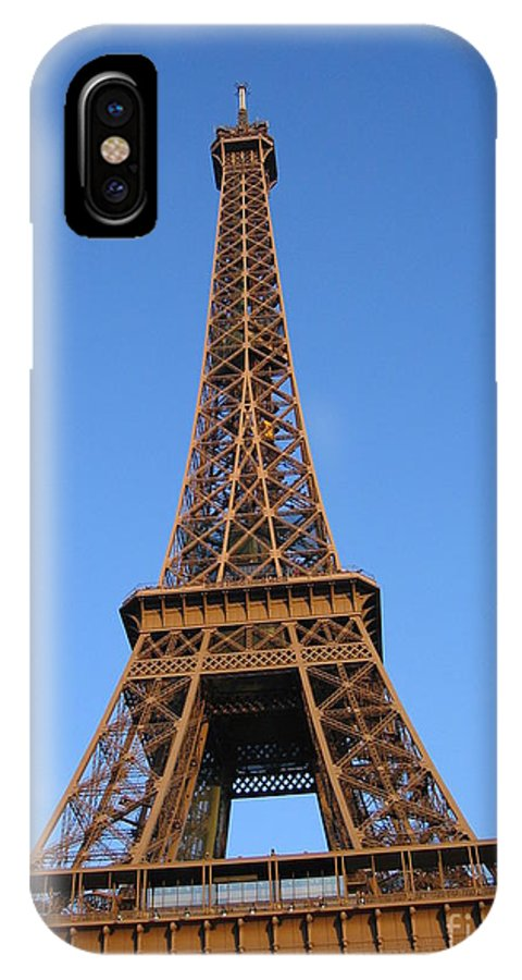 Tour Eiffel IPhone X Case featuring the photograph Eiffel Tower 2005 Ville Candidate by HEVi FineArt