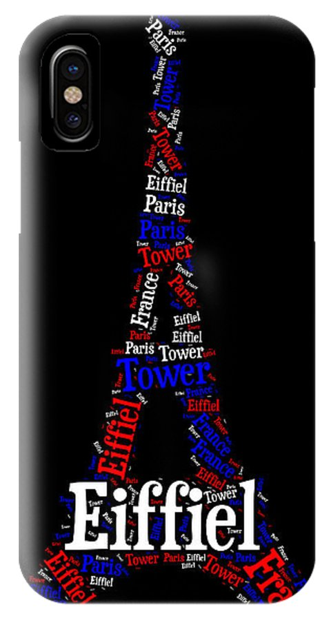 Paris IPhone X Case featuring the painting Eiffiel Tower by Bruce Nutting