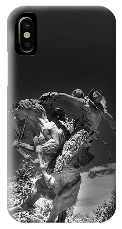 Rodeo IPhone X Case featuring the photograph Eight Second Man by David Bearden