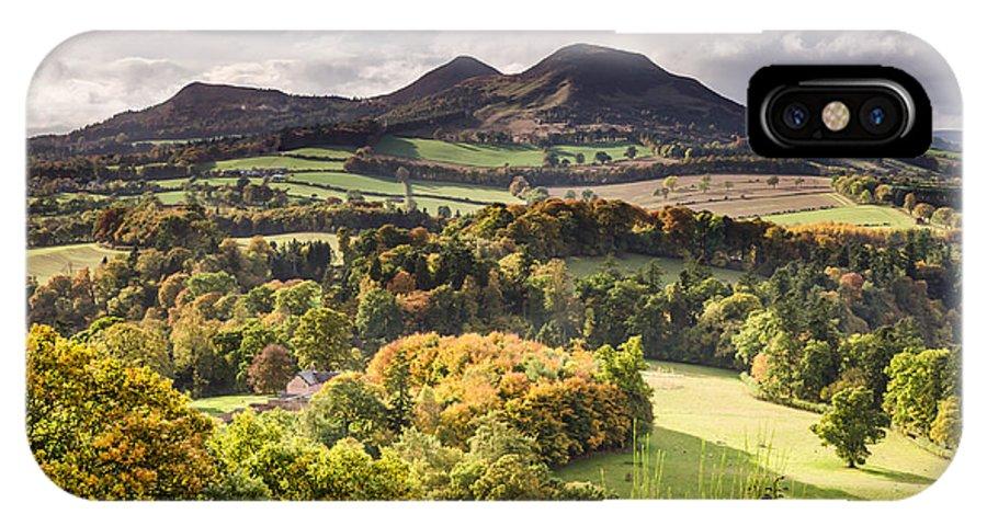 Autumn IPhone X Case featuring the photograph Eildon Hills  by David Head