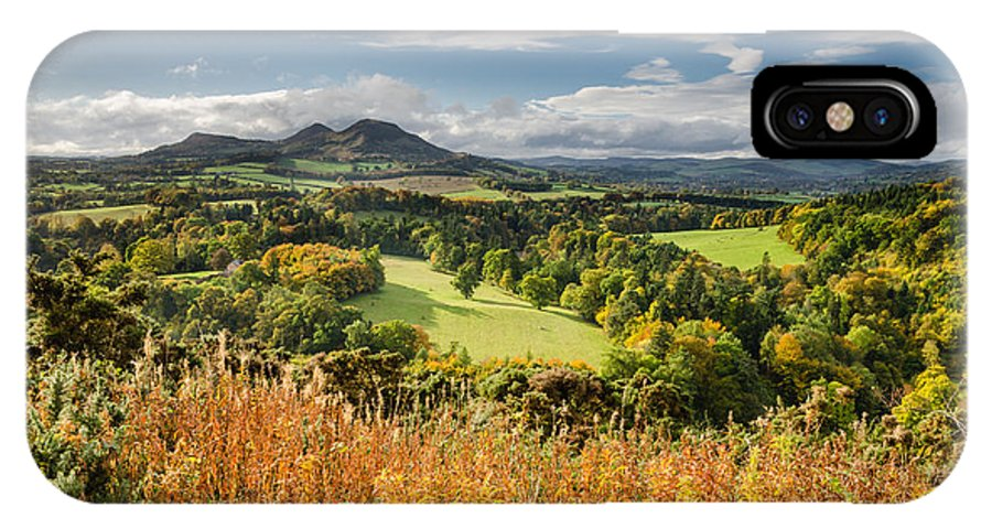 Autumn IPhone X Case featuring the photograph Eildon Hills In Autumn by David Head