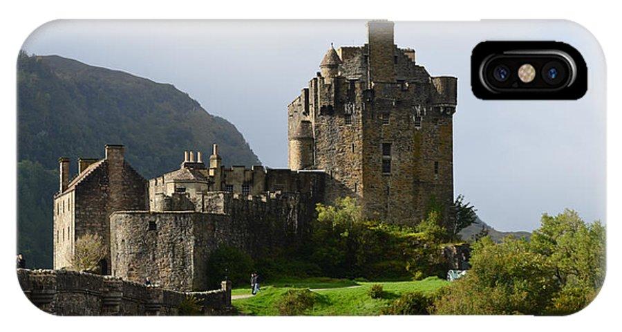Eilean Donan IPhone X Case featuring the photograph Eilean Donan Castle In Kyle Of Lochalsh by DejaVu Designs