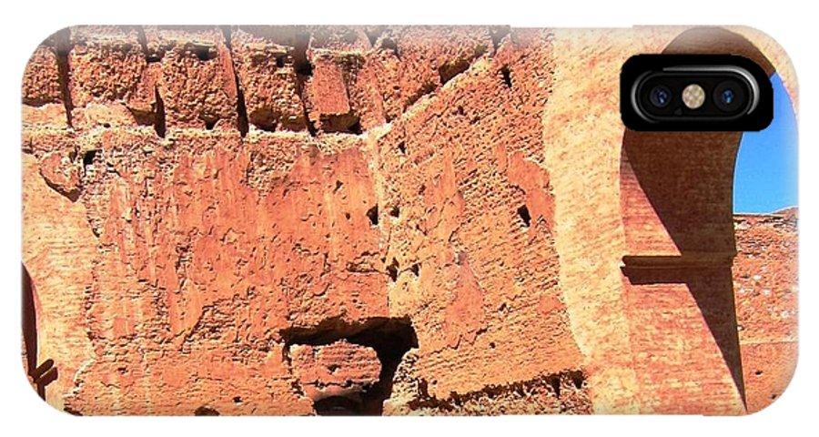 Ruin IPhone X Case featuring the photograph El Badi Palace 5 by Teresa Ruiz