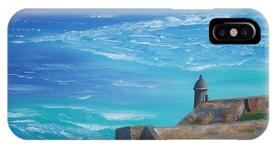 El Morro Ii IPhone Case featuring the painting El Morro II by Tony Rodriguez