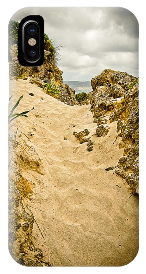 Greece IPhone X Case featuring the photograph Elafonisi Track by Oleg Koryagin