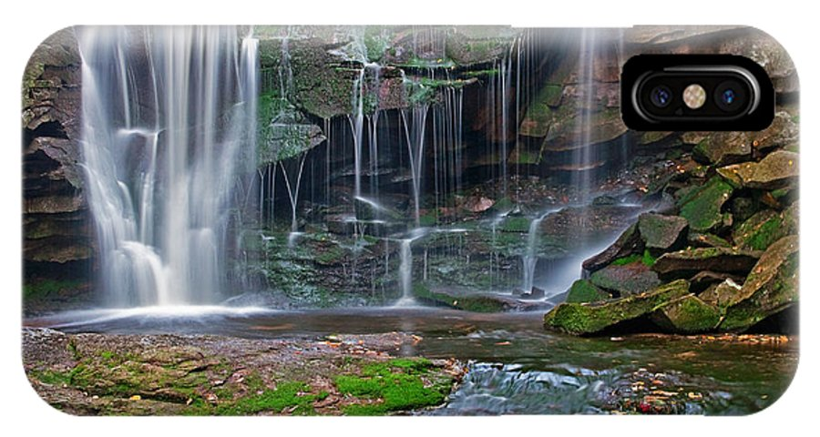 2010 IPhone X Case featuring the photograph Elakala Falls by Benjamin DeHaven