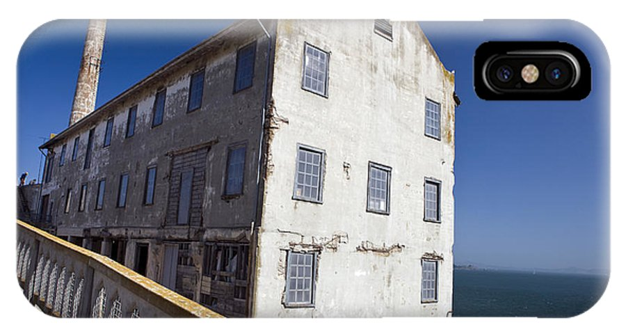 United States Of America IPhone X Case featuring the photograph Electrical Repair Shop Alcatraz Island by Jason O Watson