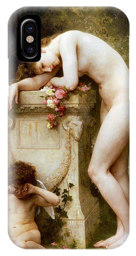 Elegy IPhone X Case featuring the digital art Elegy by William Bouguereau