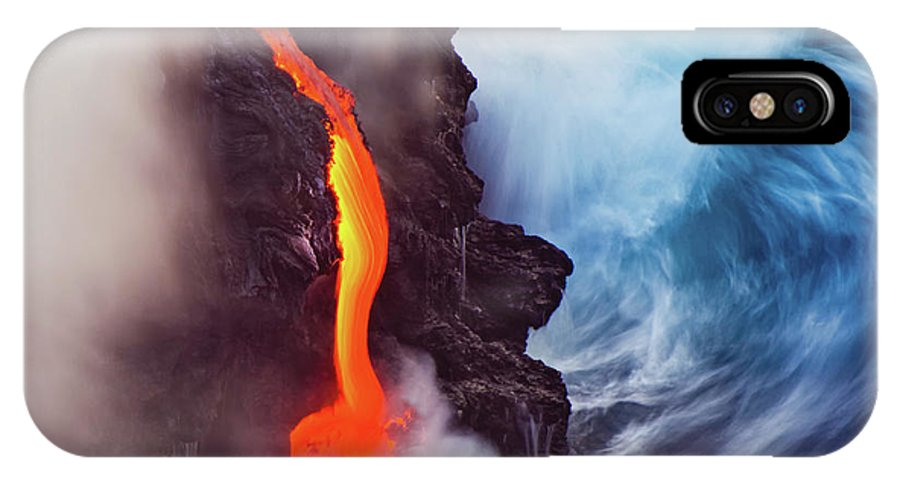 Volcano IPhone X Case featuring the photograph Elements Of Nature by Andrew J. Lee