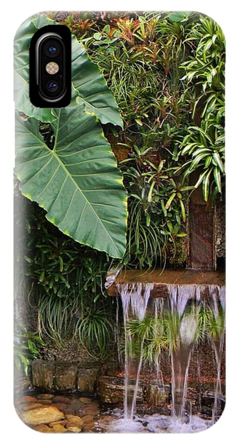 Elephant Ears IPhone X Case featuring the photograph Elephant Ears by Jean Goodwin Brooks