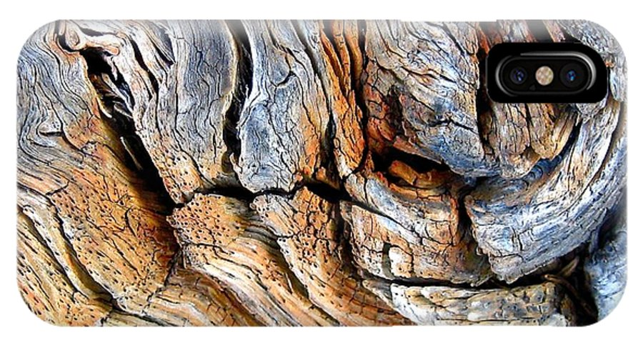 Wood Abstract IPhone X Case featuring the photograph Elephant by John Illingworth