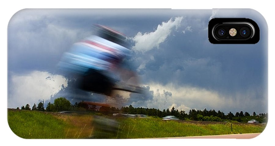 Bicycle IPhone X / XS Case featuring the photograph Elephant Rock Century Ride by Steve Krull