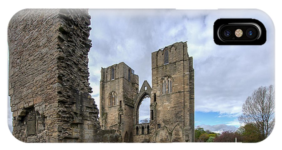 Elgin IPhone X / XS Case featuring the photograph Elgin Cathedral Community - 5 by Paul Cannon