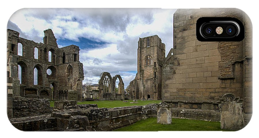 Elgin IPhone X Case featuring the photograph Elgin Cathedral Community - 7 by Paul Cannon