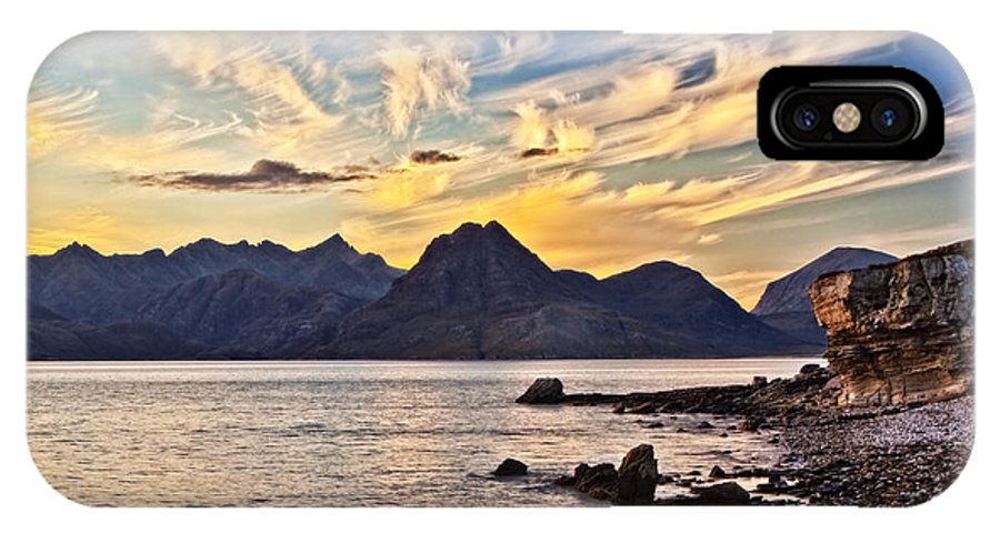 Landscape IPhone X Case featuring the photograph Elgol Beach At Sunset by Marcia Colelli