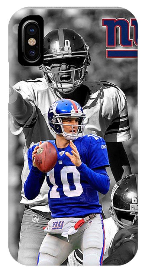Eli Manning IPhone X Case featuring the photograph Eli Manning Giants by Joe Hamilton