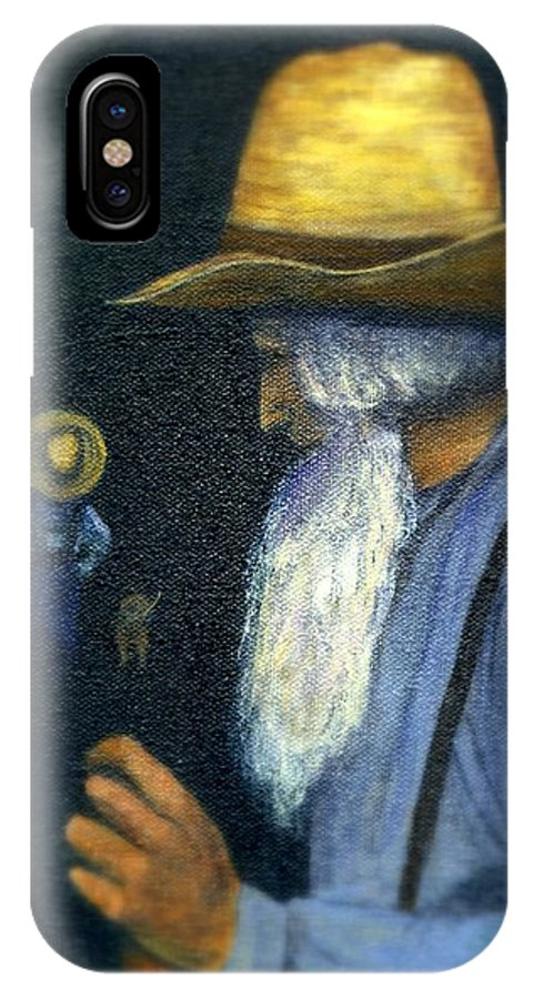Men IPhone Case featuring the painting Eli Remembers by Gail Kirtz