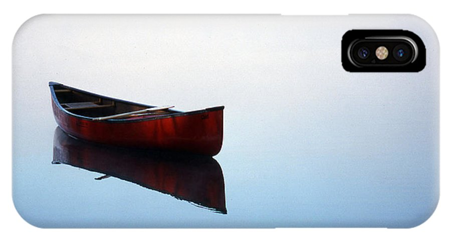 Canoe IPhone X Case featuring the photograph Elizabeth's Canoe by Skip Willits