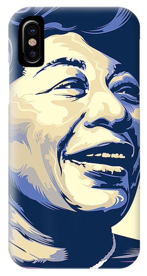 Jazz Art IPhone X / XS Case featuring the painting Ella Fitzgerald Portrait by Garth Glazier