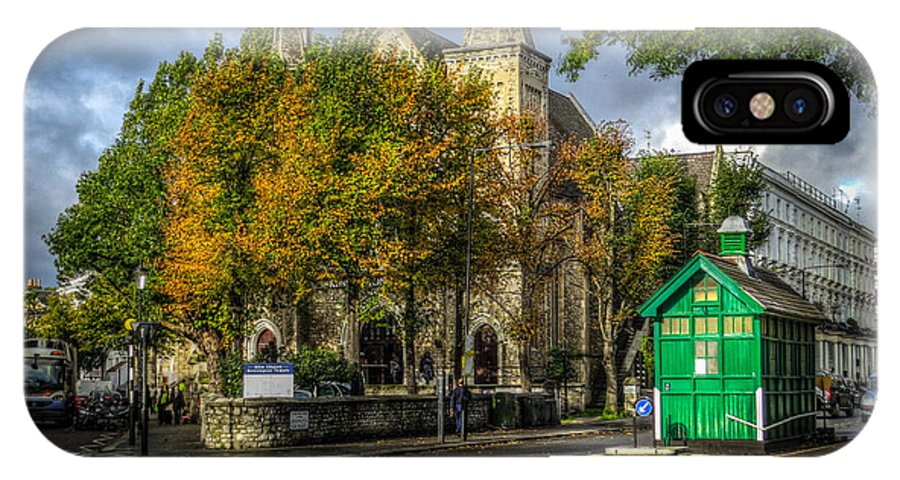Hdr IPhone X Case featuring the photograph Ellm Church And Cabman's Shelter by Ross Henton
