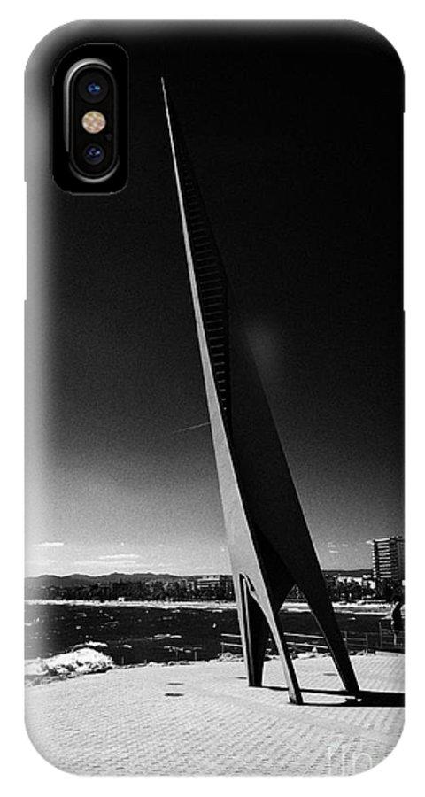 Els IPhone X Case featuring the photograph Els Pilons Sculpture By Antoni Rossello Til Salou Catalonia Spain by Joe Fox