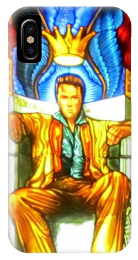 Elvis IPhone X / XS Case featuring the photograph Elvis by Crystal Loppie