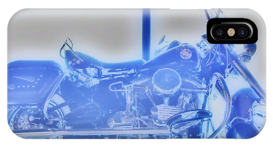 Elvis Presley IPhone X Case featuring the photograph Elvis Presley Harley Davidson Hdr by Thomas MacPherson Jr