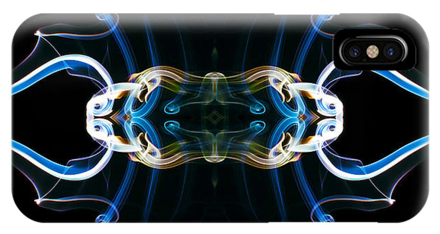 Tribal IPhone X Case featuring the digital art Emblem 3 by Stefan Dulman
