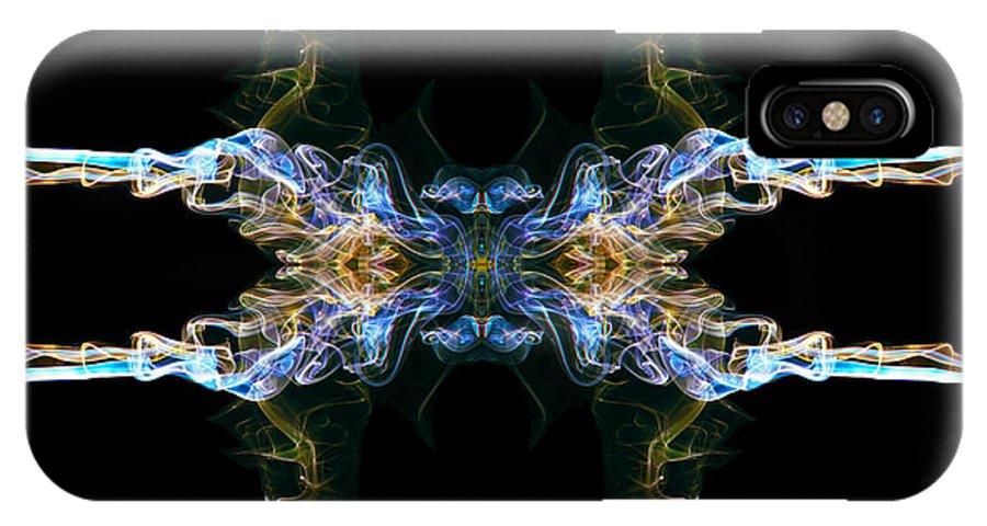 Tribal IPhone X Case featuring the digital art Emblem 4 by Stefan Dulman