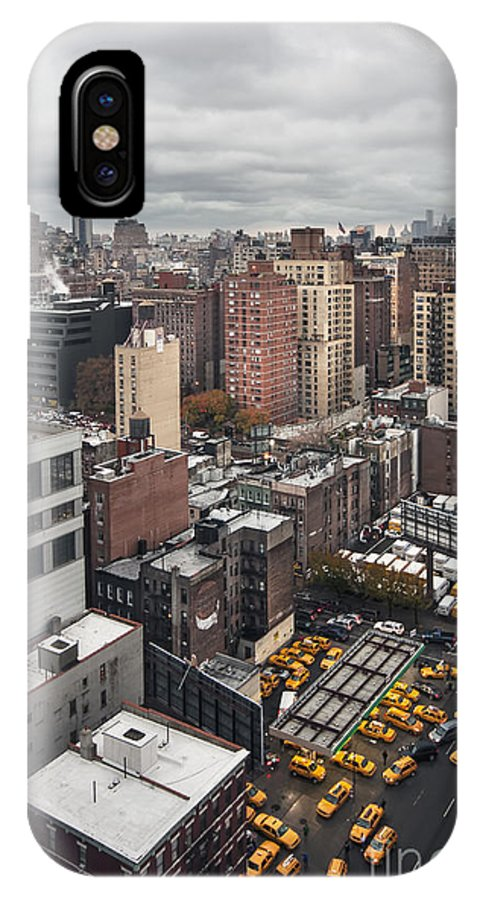 New York IPhone X Case featuring the photograph Embrace The Chaos by Evelina Kremsdorf