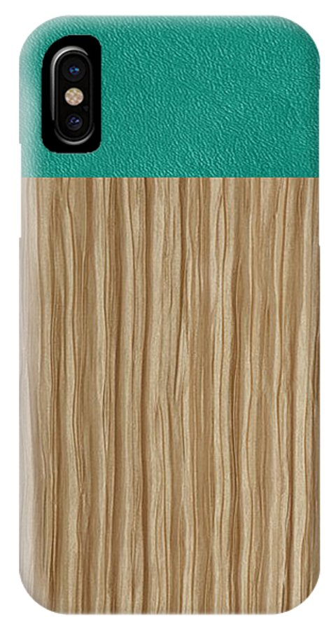 Silk IPhone X Case featuring the tapestry - textile Emerald Cashmere by Margaret Ivory