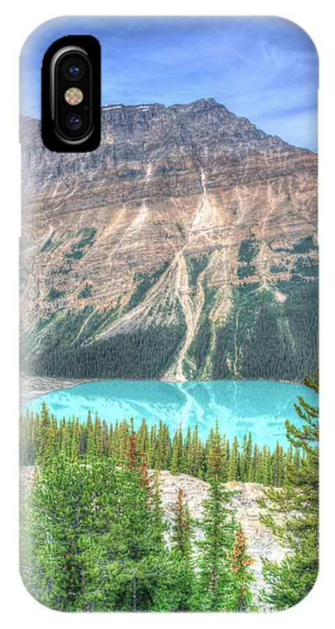 Emerald IPhone X / XS Case featuring the photograph Peyto Lake 7 by Douglas Barnett