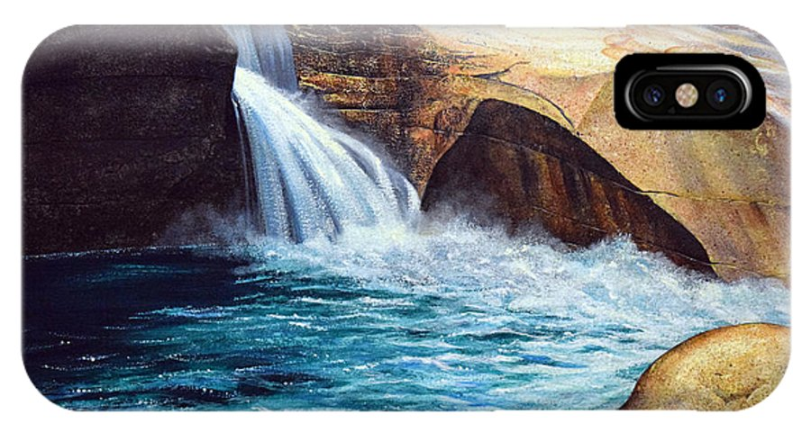 Emerald Pool IPhone X Case featuring the painting Emerald Pool by Frank Wilson