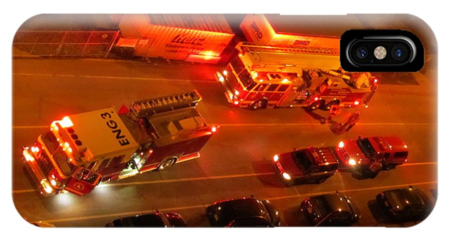 Emergency Response IPhone X / XS Case featuring the photograph Emergency Response by John Malone