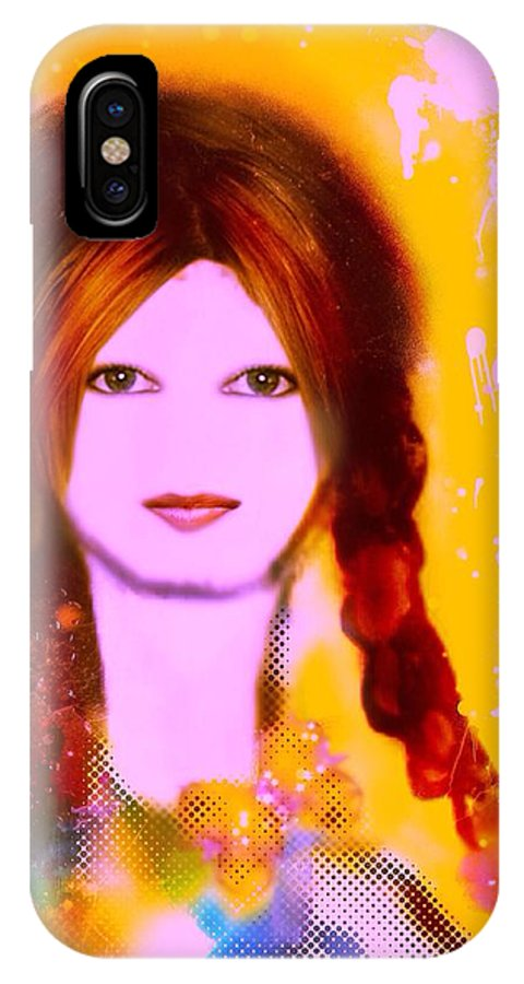 Emma IPhone X Case featuring the digital art Emma by Pikotine Art
