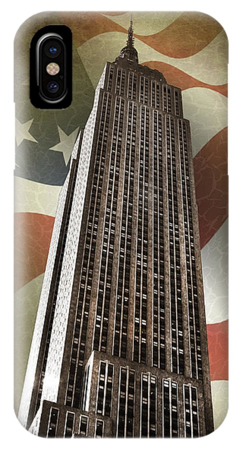 Empire State Building IPhone X Case featuring the photograph Empire State Building by Mark Rogan