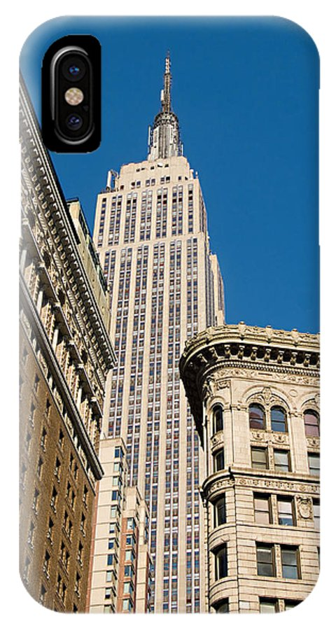 Empire State Building IPhone X Case featuring the photograph Empire State Building by Michael Dorn