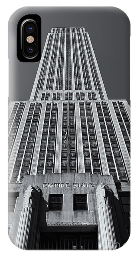 Clarence Holmes IPhone X / XS Case featuring the photograph Empire State Building Rising II by Clarence Holmes