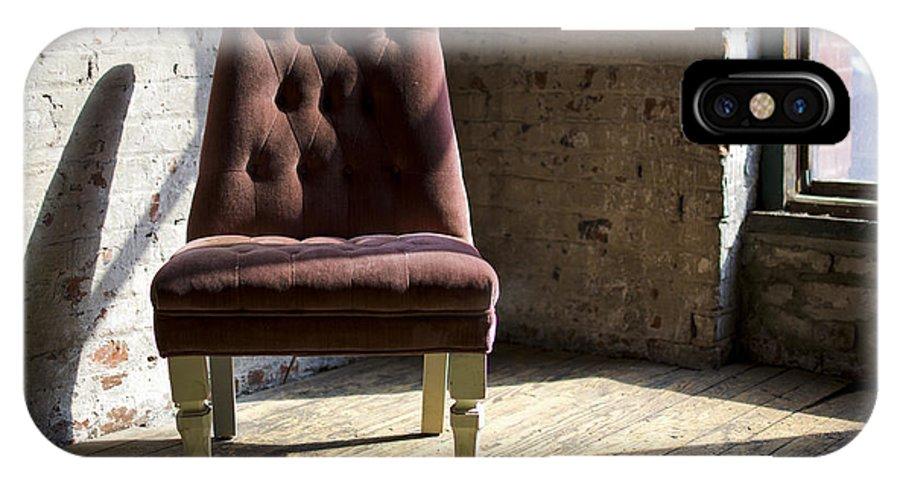 Urban Landscape IPhone X Case featuring the photograph Empty Chair by Patricio Lazen