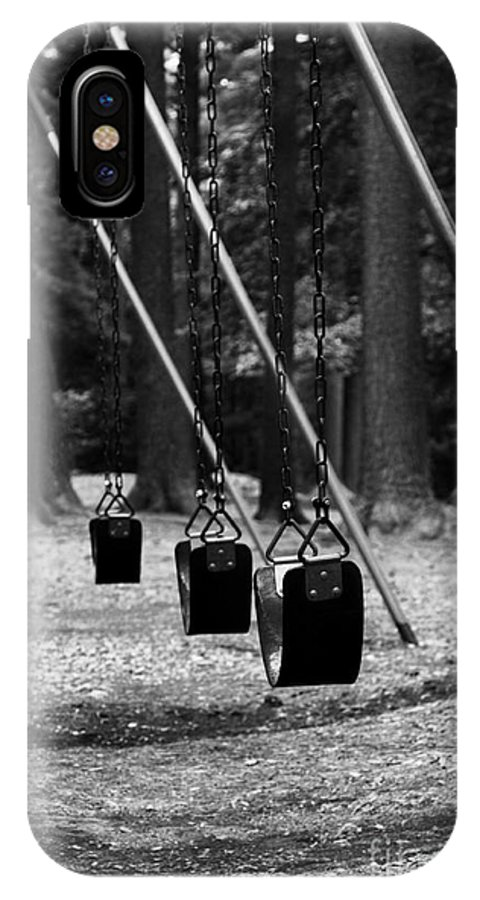 Swing IPhone X Case featuring the photograph Empty Swings by K Hines
