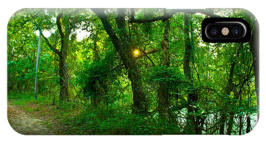 Tree Photographs IPhone X Case featuring the photograph Enchanted Green Path by Vernis Maxwell