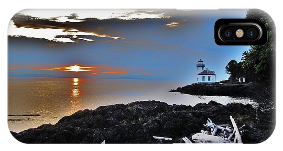Light House IPhone X Case featuring the photograph Encompassed by Amy Harrison