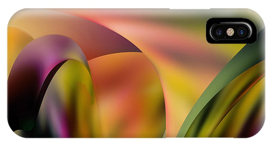 Encounter IPhone X Case featuring the digital art Encounter by Diane Dugas