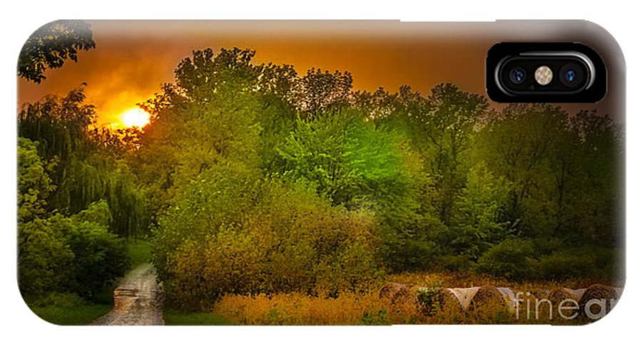 Sunset IPhone X Case featuring the photograph End Of Days by Ken Marsh