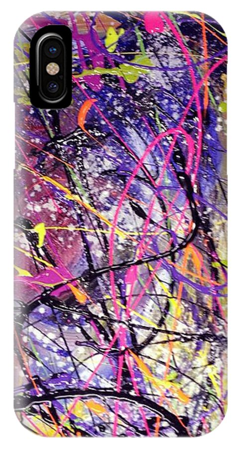 The End IPhone X Case featuring the painting End Of Nothing by Patti Shonek