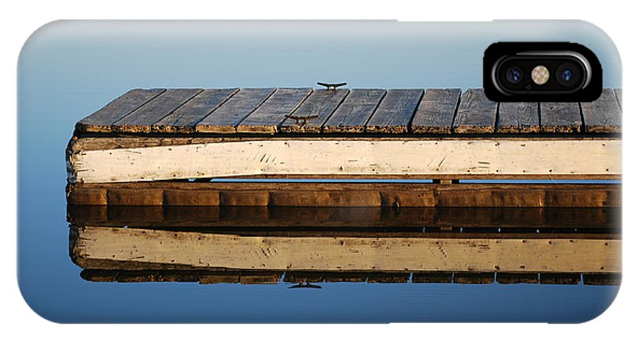 Dock IPhone X Case featuring the photograph End Of Season by Joy Bradley